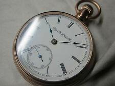 Taschenuhr ELGIN Watch Co. Illinois von 1888  verschraubtes Gehäuse, vergoldet