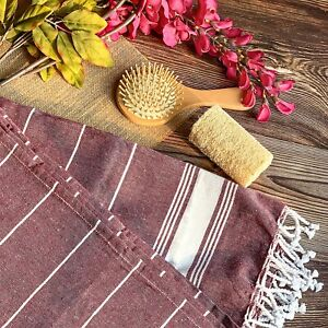 "Turkish Style Premium Cotton Bath Towel 36""x72"" Pack of 1 Maroon"