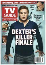 2013 TV Guide Dexter Killer Finale James Gandolfini Sopranos Tribute Back Cover!