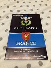 More details for 1990 scotland v france five nations grand slam rugby union 🏉 programme vgc