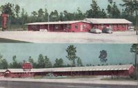 Postcard Royce Motel + Restaurant Jesup Georgia