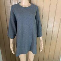 Eileen Fisher Soft Wool Tunic Sweater Gray S