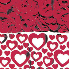 Ruby Red Shimmer HEART Table confetti 40th anniversary red Heart Decorations