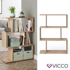 VICCO Raumteiler LEVIO 3 Fächer Bücherregal Standregal Aktenregal Büroregal