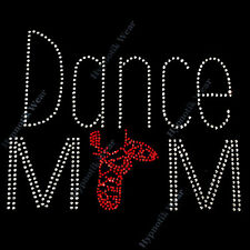 "Rhinestone Transfer "" Dance Mom "" Gillies Shoes, Hotfix , Iron On, Bling, Ballet"