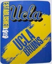 """Blanket Fleece Throw NCAA UCLA Bruins NEW 50""""x60"""" with protective sleeve"""