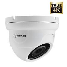 Securicam 8MP 4K HD TVI 4mm Fixed Lens White 30m IR IP66 Dome CCTV Camera