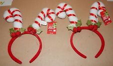 Christmas Headbands 2 Each Be Jolly Holiday Funny Candy Cane Hat 151G
