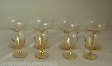 Marigold Carnival Glass Champagne Flutes & Port Glasses Amber Gold