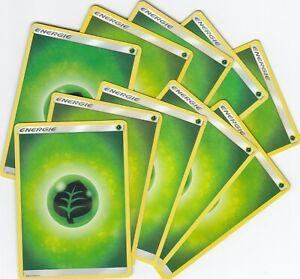 10x Pflanzen Energiekarten - Sonne & Mond - Pokemon