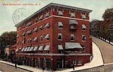 Little Falls New York Hotel Richmond Street View Antique Postcard K64789
