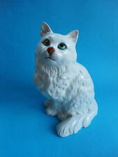 VINTAGE LARGE BESWICK CAT WHITE PERSIAN PERFECT