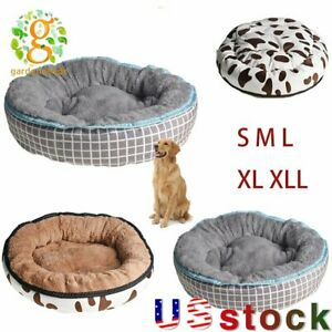 Snug Donut Plush Pet Dog Cat Bed Fluffy Soft Warm Calming Bed Sleeping Kennel