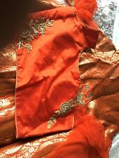 Lengha with short top and net dupatta. Size 10