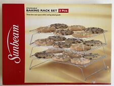 New listing Brand New Sunbeam Stackable Baking Rack Set 3 Pieces Three Tiers Space Saving