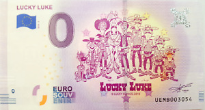 Lucky Luke zero euro souvenir banknote