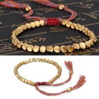 Lucky Rope Handmade Tibetan Buddhist Geflochtene Baumwolle Kupfer Armband C0M0
