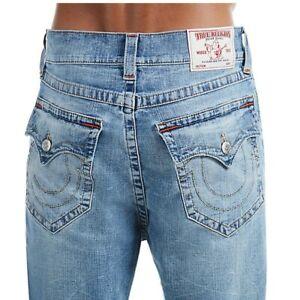 True Religion Men's Slim Drop Rise Jeans w/ Flap Pockets in Light Desperado Ride