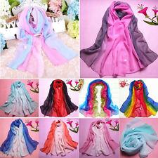 Fashion Women Long Scarf Infinity Gradient Color Chiffon Neck Wrap Shawl Scarves
