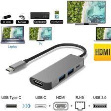 Adaptador 4 en 1 Thunderbolt 3 USB-C a HDMI 2x USB3.0 Type-C PD Hub para Samsung