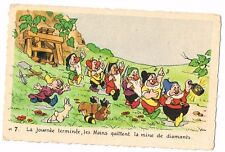 CPA BLANCHE NEIGE ET LES 7 NAINS N° 17