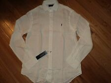 +++nwt $125 Polo Ralph Lauren Long Sleeve 100% Linen Shirt sz XL+++