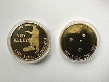 NED KELLY HIGHLY COLLECTABLE GOLD COIN - LAST STAND GLENROWAN - SUCH IS LIFE