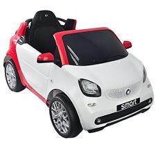 Auto Elettrica Bambini 12V Smart for Two Bianca Rossa con Luci Radio Telecomando