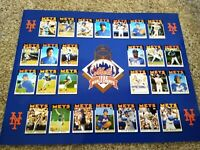 New York Mets 1986 World Champs 11x14 Autographed Gooden, Dykstra, Backman