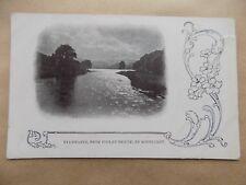 Ullswater Pooley Bridge Moonlight Cumbria Old Postcard Writing on back Unposted