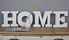 HOME Schriftzug Buchstaben shabby chic Holz weiß Schild Schrift Landhaus