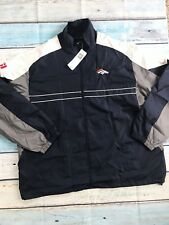 NWT NFL Broncos Denver Dunbrooke Men's Jacket XXL Windbreaker Blue Full Zip