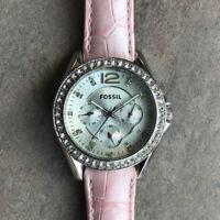 Fossil ES3202 Women Silver Stainless Steel Analog Dial Quartz Watch Bin K