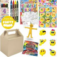Boys Silver Childrens Wedding Activity Packs Favours Gift Party Bag Kids Boxes