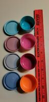 Tupperware Vintage Tiny Containers W/lids Pill Holder/ Spices Set Of 4