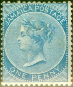 Jamaica 1884 1d Blue SG17 Good Mtd Mint