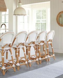 Bistro Stool - White - Synthetic seat