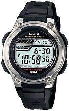 Casio W212H-1AV, Digital Chronograph Watch, Black Resin Band, 5 Alarms, 50 Meter