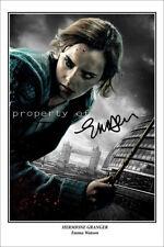 * EMMA WATSON * Large poster signed of Harry Potter star Hermoine Granger!
