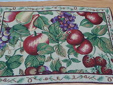 NEW    TAPESTRY FRUITS THROW PILLOW 12 X 18
