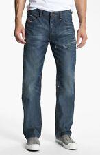 $218 NEW DIESEL Jeans Mens 30 x 34 Larkee Relaxed Straight 885S Med Blue Denims
