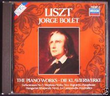 Jorge Bolet: Liszt vol1 Hungarian Rhapsody No. 12 funérailles Amore Sogno CD