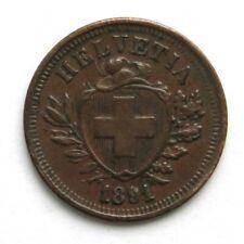 1 Rappen 1891, Schweiz