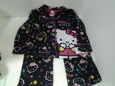 Hello Kitty Girls 2 Piece Pajama Set Size 4 Long Sleeve Top Long Pants Black