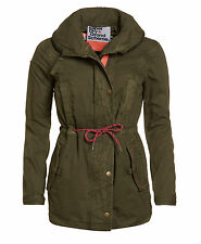 New Womens Superdry Grande Scheme Jungle Parka True Army