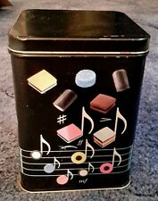 Liquorice allsorts storage tin.