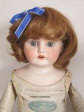 """perruque courte blonde-T26/27cm-poupée ancienne-moderne-Doll wig head sz10/11"""""""