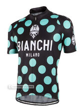 Bianchi Milano PRIDE Short Sleeve Summer Cycling Jersey BLACK/CELESTE Polka DOTS