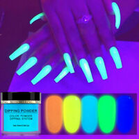 Acrylic Dipping Powder Nail Art Glitter Dust Luminous Fluorescent Pigment