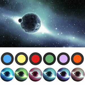 1.25'' Color Astronomical Telescopes Eyepiece Ocular Lens Planets Nebula Filter